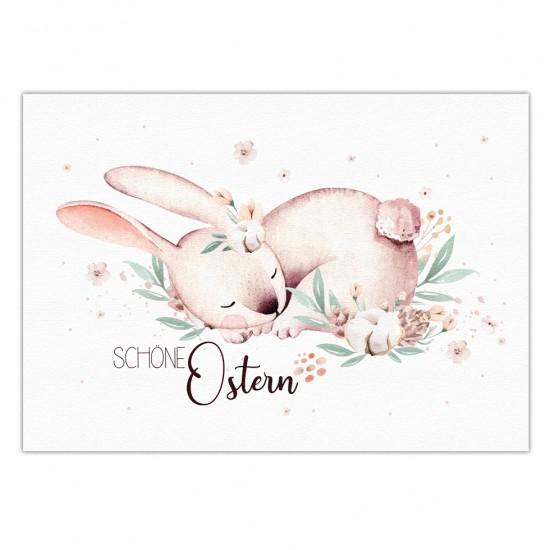 Ostern in Aquarell #2 Postkarte mit handgezeichneten Illustrationen, Osterkarte 14,8 x 10,5 cm
