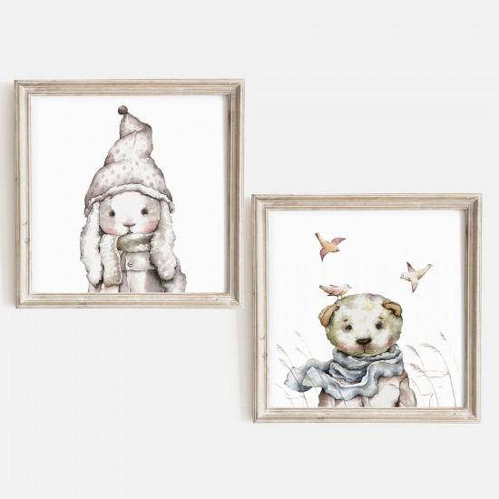 art4minis ♥ 2 teiliges Kinderzimmer Bilderset