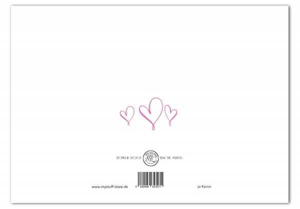 Geburtstagskarte Birthday Post #2 Klappkarte inklusive Umschlag
