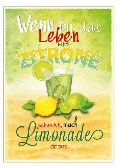 postkarte wenn dir das leben eine zitrone schenkt mach limonade draus 10 5 x 14 8 cm. Black Bedroom Furniture Sets. Home Design Ideas