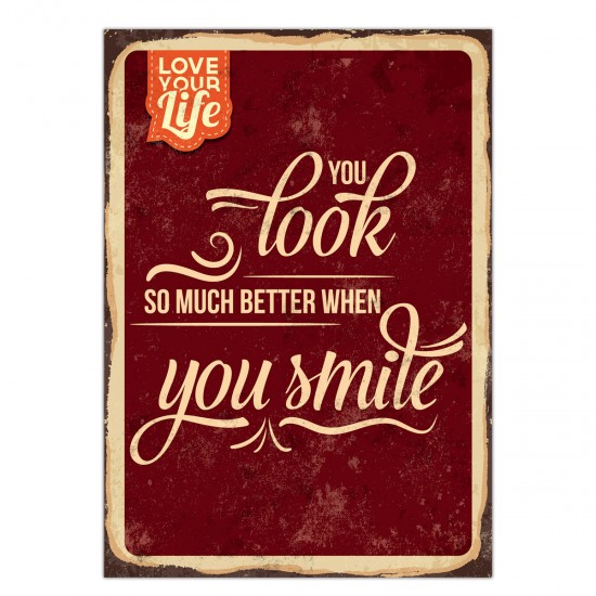 "Postkarte "" You look so much better, when you smile."", 10,5 x 14,8 cm"