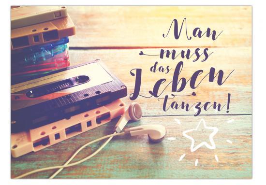 Postkarte Wenn Dich Dein Leben Nervt Streu Glitzer Drauf 105 X