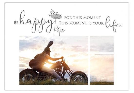 "Postkarte ""Be happy for this moment. This moment is your life."",  14,8 x 10,5 cm"