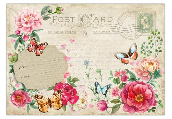 "Postkarte "" Vintage Romantic Card No. 1"" 10,5 x 14,8 cm"
