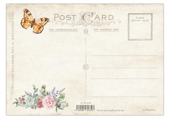 "Postkarte "" Vintage Romantic Card No. 3"" 10,5 x 14,8 cm"