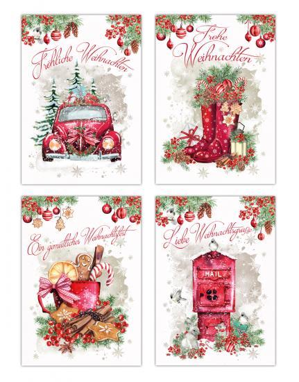 20 weihnachtskarten weihnachtskarten set traditionelle. Black Bedroom Furniture Sets. Home Design Ideas