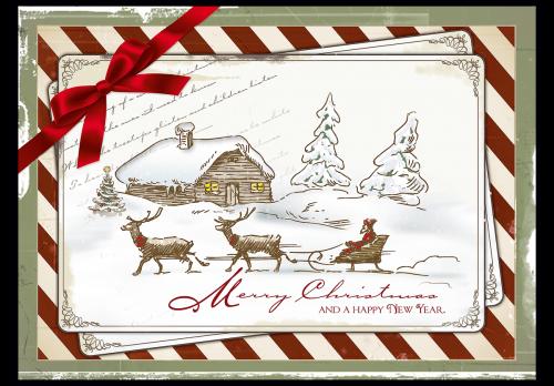 postkarte weihnachten vintage weihnachtskarte. Black Bedroom Furniture Sets. Home Design Ideas