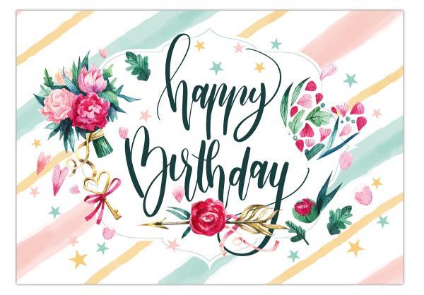 Geburtstagkarte