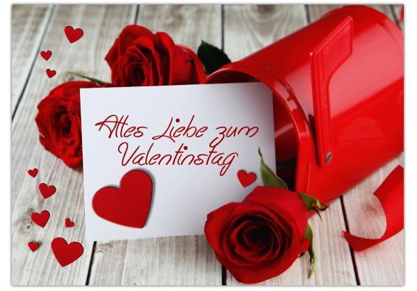 Karte Zum Valentinstag Alles Liebe zum Valentinstag